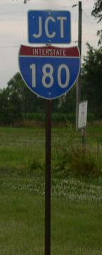 A junction marker on eb u s rt 6 for Bureau junction il