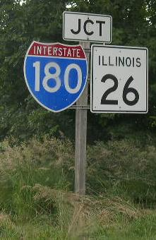 A junction marker on wb il st rt 71 near hennepin the for Bureau junction il