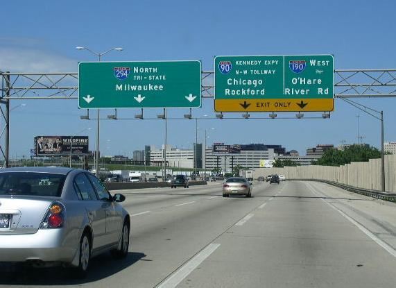 NB I-294 near I-90/190.