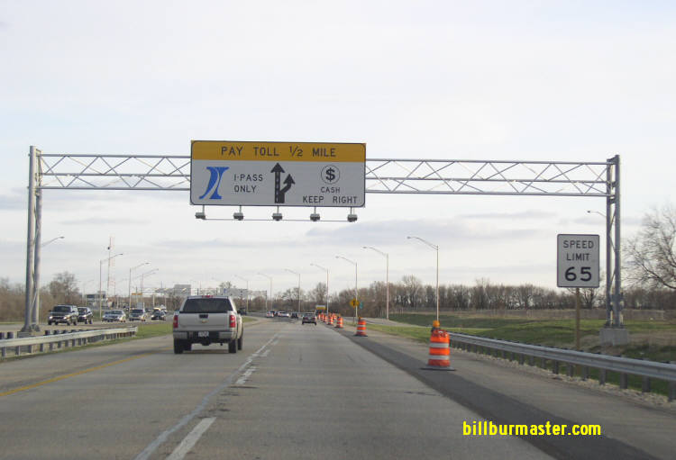 Toll Plazas on I-90 in Illinois.