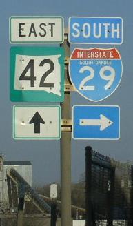 South Dakota State Route 42, Minnehaha County