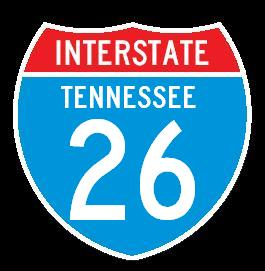 Interstate 26, Tennessee