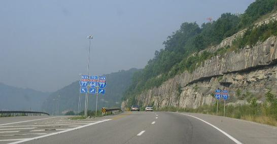 Pennsylvania - Interstate 79 North - Mile Marker 150 to 160 (7/3 ...